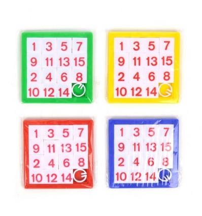 Puzzle Suwane Liczby 1z4 wzorów 6cm