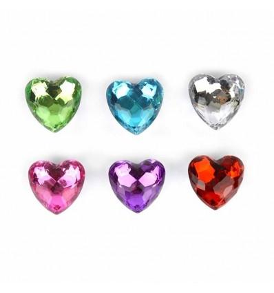 Diamentowe serce na lodówke  1z6 wzorów 4cm