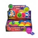 Piłka z kolcami ze światełkiem 1z6 wzorów, 6,5cm