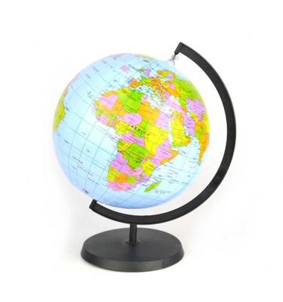 Dmuchany globus ze stojakiem (wersja angielska) 28cm