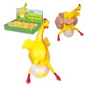 Gumowa kura składająca jajo