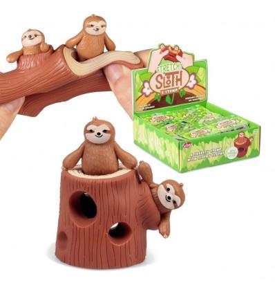 Rozciągliwe leniwce z pniem drzewa