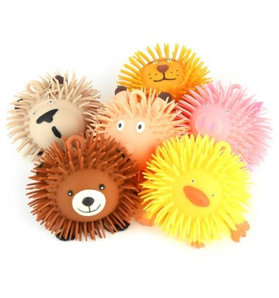 PUFFER BALL ANIMAL 6ass 15cm