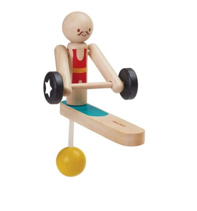 Drewniany akrobata - podnoszenie ciężarów