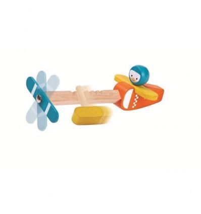 Drewniany samolot Spin N Fly | Plan Toys