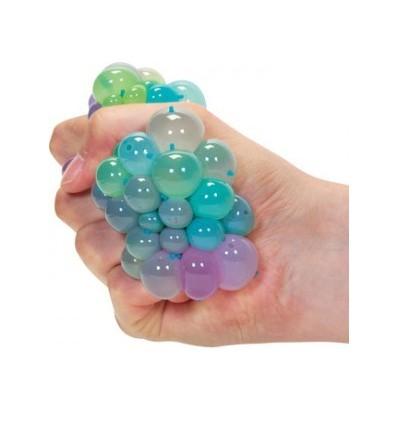 Tęczowy gniotek w siatce - Rainbow Squishy Mesh Ball