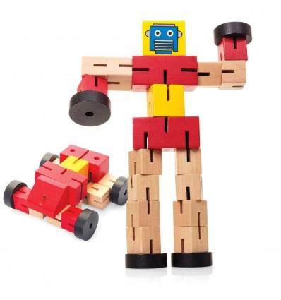 Drewniany Samochodorobot - Wooden Transformbot