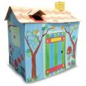 Pokoloruj swój własny kartonowy domek