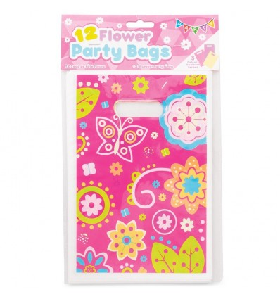 Flower Party Bags - Pack Of 12