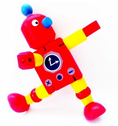 Drewniany Retro Robot