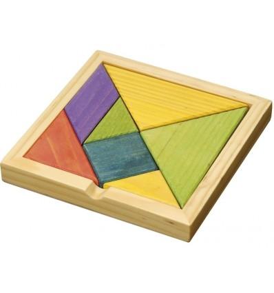 """Puzzle drewniane """"Tangram"""" Kolorowy"""