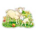 Owieczka z mamą – Puzzle Konturowe