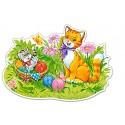 Kotek z mamą – Puzzle Konturowe