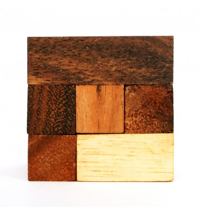 Łamigłówka Drewniana - Puzzle - Drewniana kostka 6-elementowa