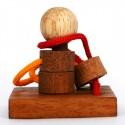 Łamigłówka drewniana - Puzzle - Zaplątane obręcze