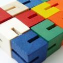 Modułowe bloczki drewniane