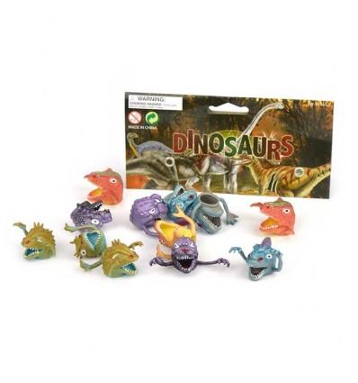 Dinozaury, pacynka na palec 12szt. 3.5cm