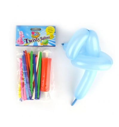 Balony do modelowania z pompką – 15 sztuk