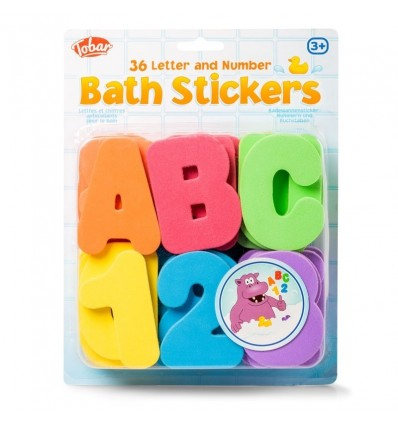 Literki do kąpieli - Bath Stickers